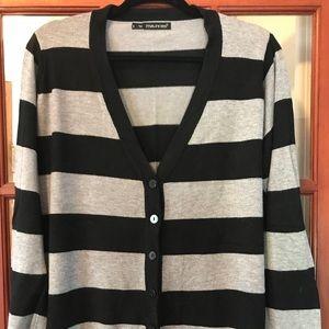 Maurice's plus size striped cardigan sweater